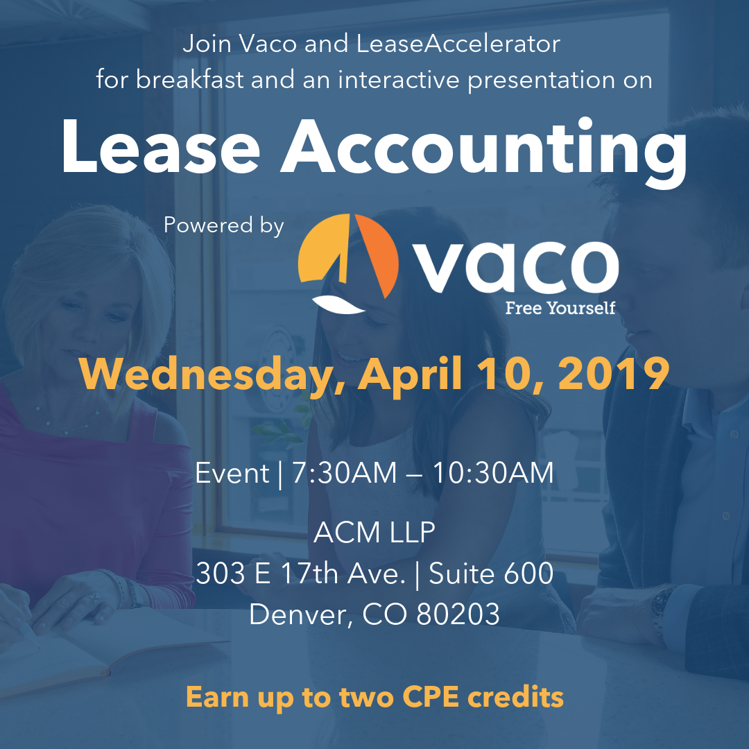 Denver Lease Accounting Event 4-10-19