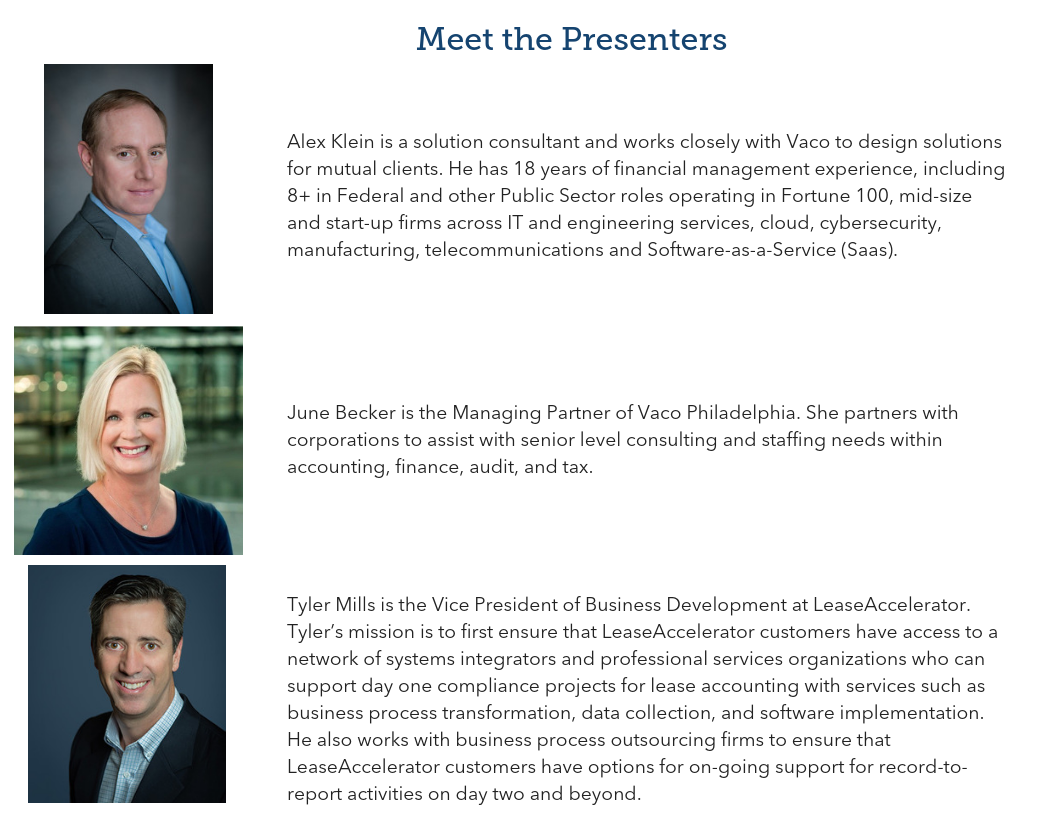 Meet the Presenters - NJ